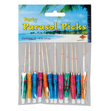 Parasol Party Picks 10cm.  - Pack of 12