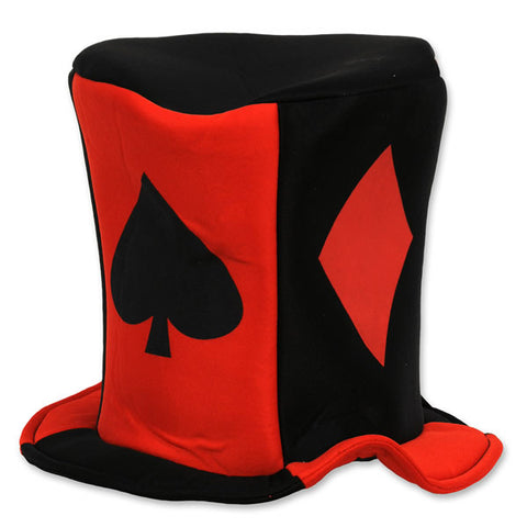 Hat Card Suit Casino Fabric One Size Fits most (Foam - Lined) - Each