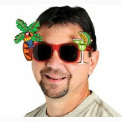 Glasses Fanci Frames Palm Tree & Parrot