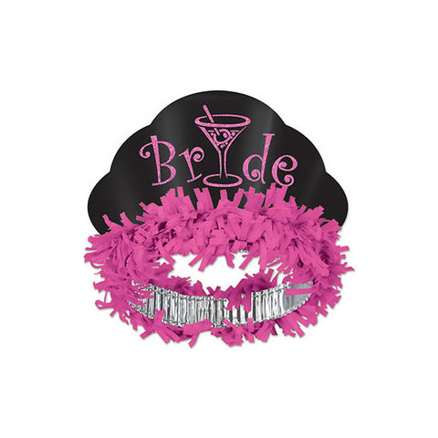 Bride Tiara Glittered Headband with Oink Tissue Paper - Each