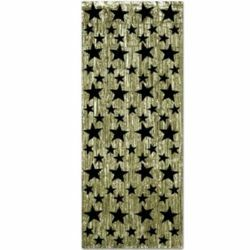 Curtain Gold with Black Stars - Foil