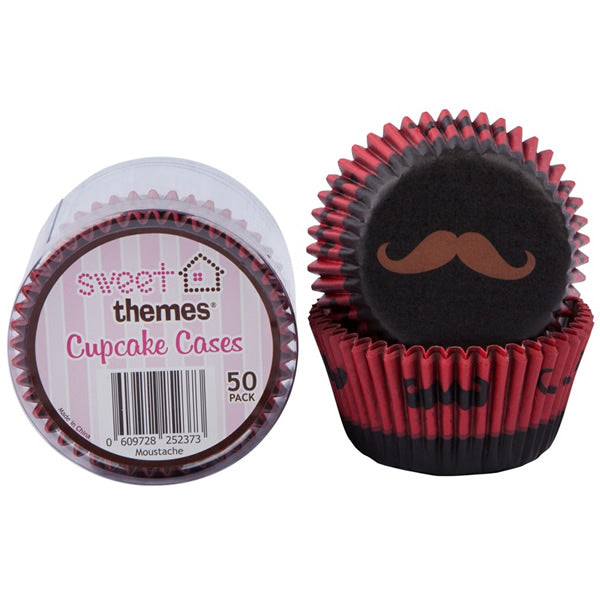 Cupcake Cases Moustaches Contains 50 cupcake cases - Pack of 50