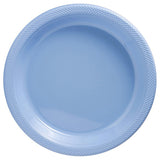 Snack Plates Pastel Blue Plastic 18cm  - Pack of 20