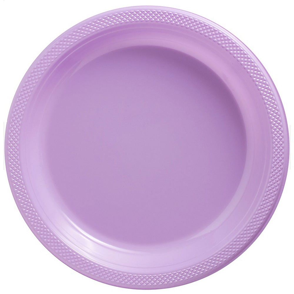 Dinner Plates Lavender Lilac Plastic 23cm  - Pack of 20