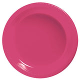 Dinner Plates Magenta Plastic 23cm  - Pack of 20