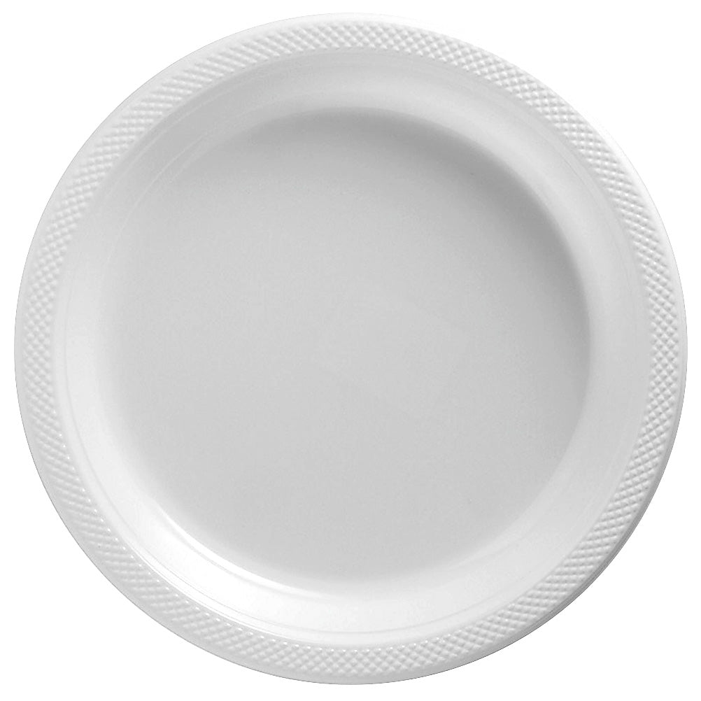 Banquet Plates Frosty White Plastic 26cm  - Pack of 20
