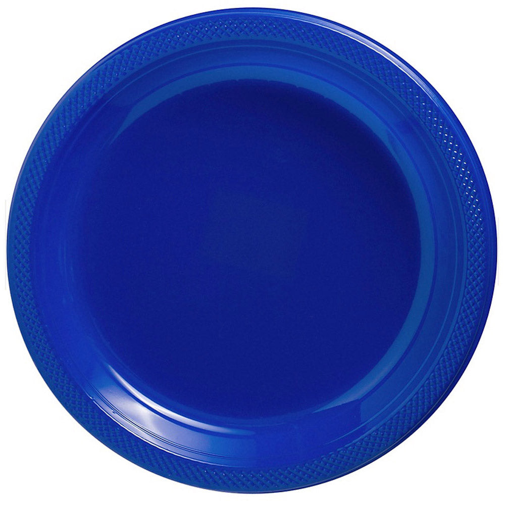 Banquet Plates Bright Royal Blue  Plastic 26cm  - Pack of 20