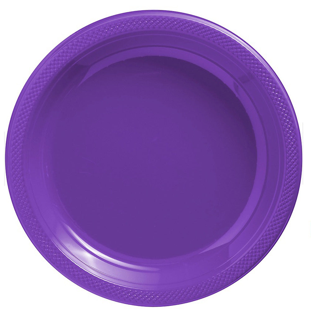 Banquet Plates New Purple Plastic 26cm  - Pack of 20