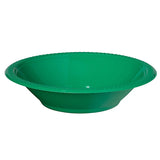 Bowls Festive Green 18cm Plastic  - Pack of 20