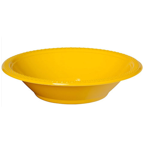 Bowls Yellow Sunshine 18cm Plastic 355ml - Pack of 20