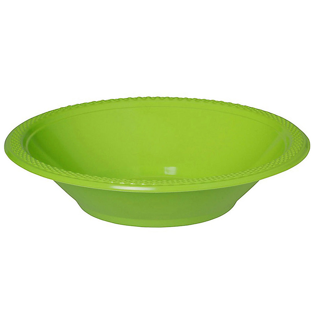 Bowls Kiwi Lime Green 18cm Plastic 355ml - Pack of 20