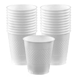 Cups Frosty White 355ml Plastic  - Pack of 20