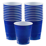 Cups Bright Royal Blue 355ml Plastic  - Pack of 20
