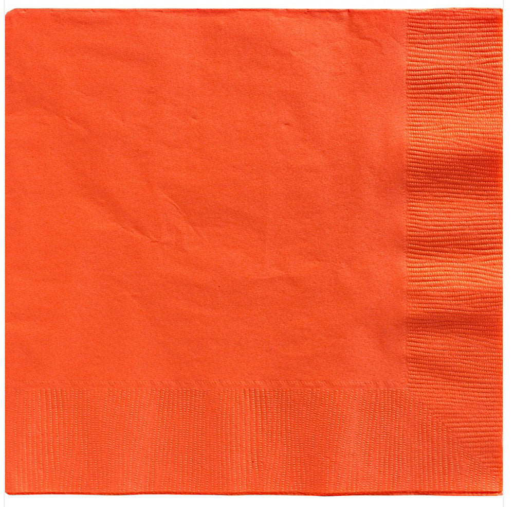 Beverage Napkins Orange Peel 2 Ply 25cm x 25cm - Pack of 20
