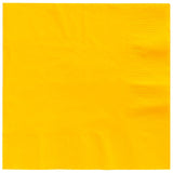Beverage Napkins Yellow Sunshine 2 Ply 25cm x 25cm - Pack of 20