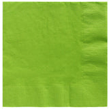 Beverage Napkins Kiwi Lime Green 2 Ply 25cm x 25cm - Pack of 20
