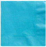 Beverage Napkins Caribbean Blue 2 Ply 25cm x 25cm - Pack of 20