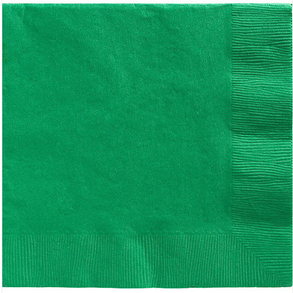 Dinner Napkins Festive Green 2 Ply 40cm x 40cm - Pack of 20