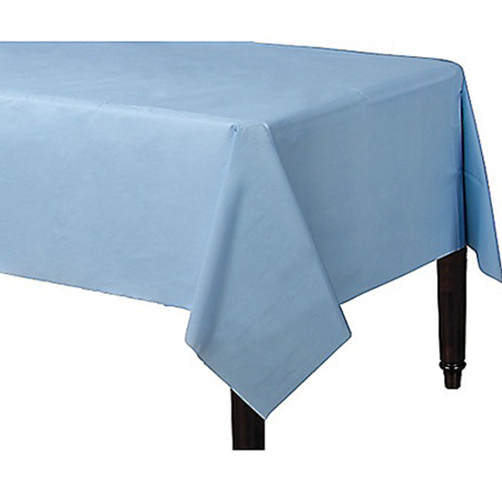 Tablecover Rectangle Pastel Blue Plastic 137cm x 274cm - Each