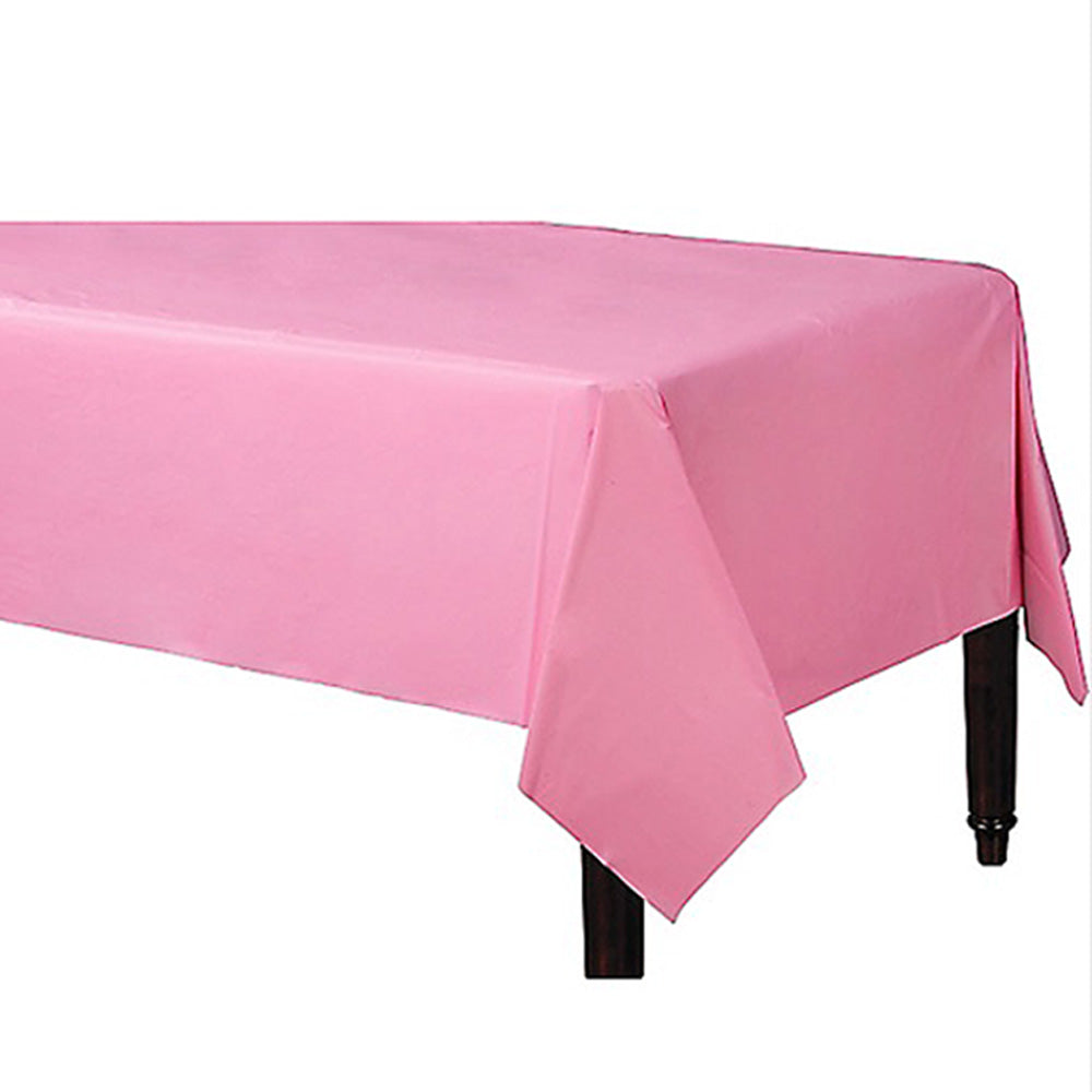 Tablecover Rectangle New Pastel Pink Plastic 137cm x 274cm - Each