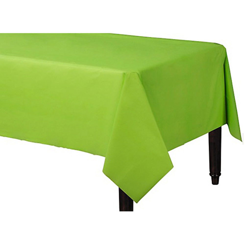Tablecover Rectangle Kiwi Lime Green Plastic 137cm x 274cm - Each