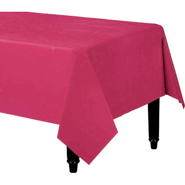 Tablecover Rectangle Magenta Plastic 137cm x 274cm - Each
