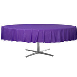 Tablecover Round New Purple Plastic 213cm - Each