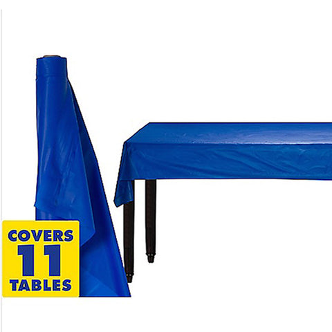 Tablecover Roll Bright Royal Blue Plastic 1.22m x 30.48m (Fits Approx 12 Banquet Tables) - Roll
