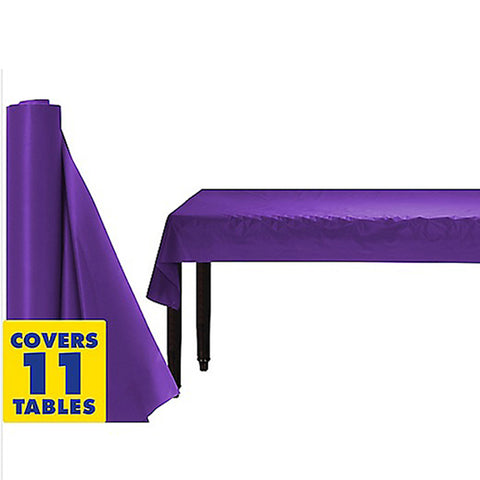 Tablecover Roll New Purple Plastic 1.22m x 30.48m (Fits Approx 12 Banquet Tables) - Roll
