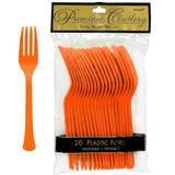 Forks Orange Peel Heavy Duty Plastic  - Pack of 20