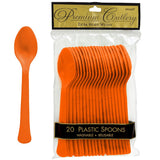 Spoons Orange Peel Heavy Duty Plastic  - Pack of 20