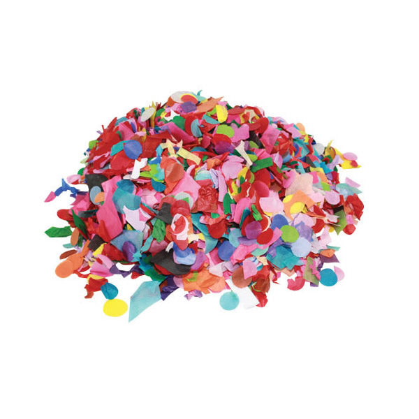 Confetti Tissue Assorted Mixed Shapes & Colours Economy 1kg Bag - 1 Kg