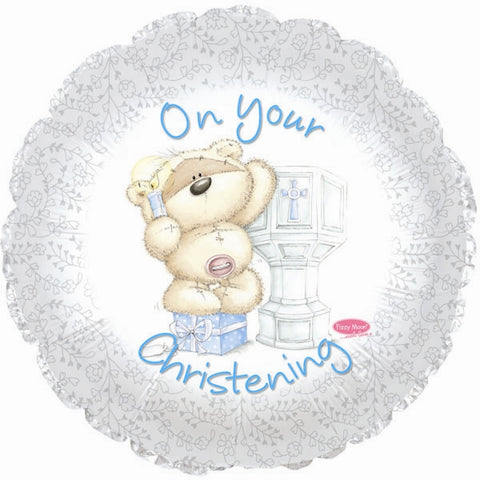 45cm On Your Christening Boy, Teddy Bear