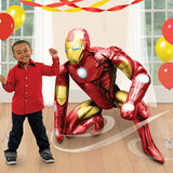 Airwalker Iron Man 93cm x 116cm Foil Balloon, requires helium or air inflation with weights. These  shapes with specially weighted components enable the balloon to float, hover, or walk on air! - Each