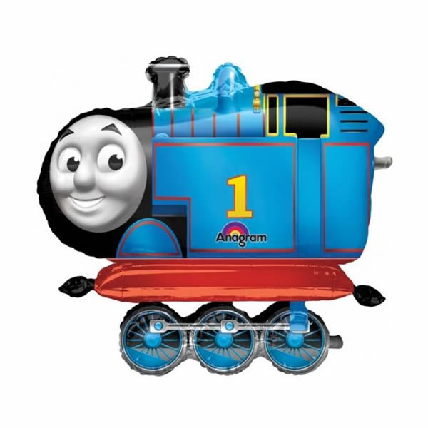 Airwalker Thomas The Tank Engine (91cm Wide x 78cm High) Foil Balloon (Self sealing balloon, requires helium inflation) - Each