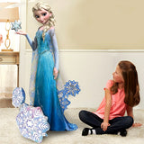 Airwalker Elsa Frozen Giant Gliding Balloon 88cm x 144cm Foil (Self sealing balloon, Requires helium inflation) - Each