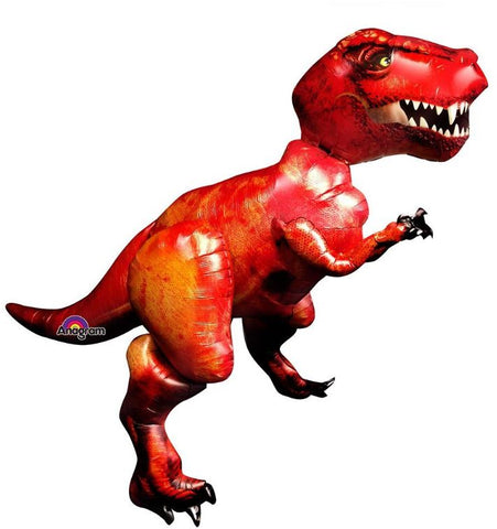 Airwalker Tyrannosaurus T-Rex Dinosaur 172cm Wide x 154cm High Foil Balloon (Self sealing balloon, Requires helium or air inflation) - Each