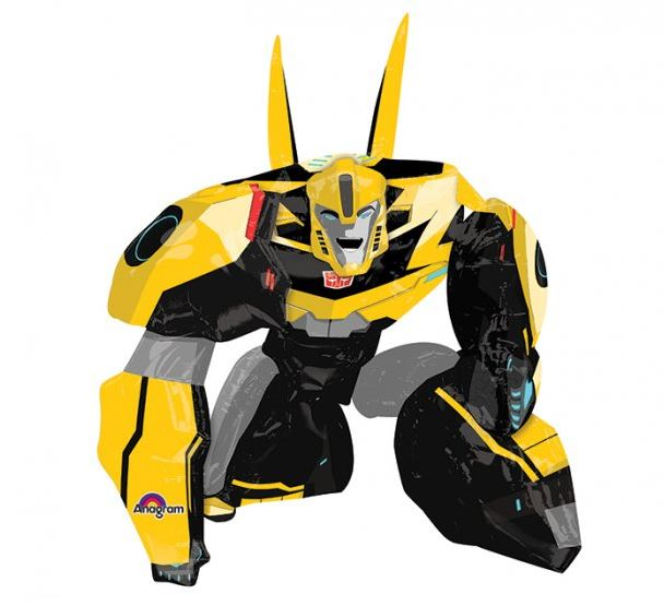 Airwalker Transformers Bumble Bee 86cm Wide x 119cm High Foil Balloon (Self sealing balloon, Requires helium inflation) - Each