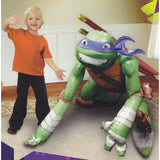 Airwalker Teenage Mutant Ninja Leonardo TMNT 111cm x 111cm Foil Balloon, requires air or helium inflation. - Each