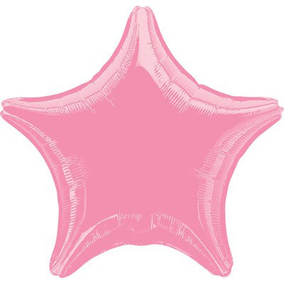 45cm Star Metallic Pink Foil Balloon (Self Sealing Balloon, Requires Helium Inflation) Un - Packaged - Each