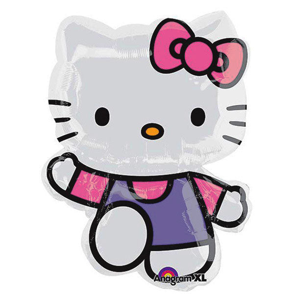 Shape Hello Kitty Pink & Purple 56cm x 76cm Foil Balloon (Self sealing balloon, Requires helium inflation) - Each