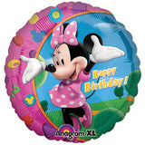 45cm Minnie Mouse Happy Birthday Foil Balloon (Self sealing balloon, Requiries Helium Inflation) - Each