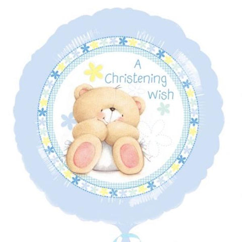 45cm A Christening Wish Forever Friends Foil Balloon (Self sealing balloon, Requires Helium inflation) - Each