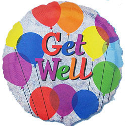 45cm Get Well Balloons Colourful