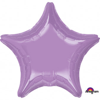 45cm Star Lavendar Foil Balloon (Self Sealing Balloon, Requires Helium Inflation) - Each