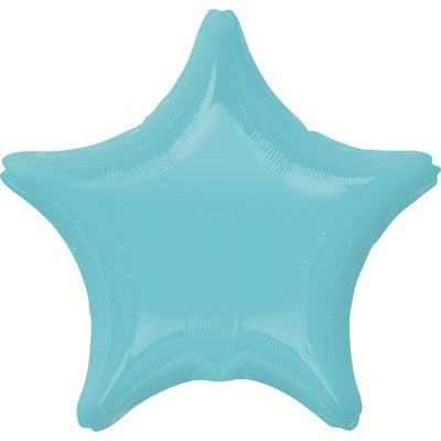 45cm Star Robin's Egg Blue Foil Balloon (Self Sealing Balloon, Requires Helium Inflation) Un - Packaged - Each
