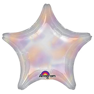 81cm Star Iridescent Foil Balloon (Self Sealing Balloon, Requires Helium Inflation) Un - Packaged - Each