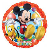 45cm Mickey Mouse and Pluto Foil Balloon (Self sealing balloon, requires helium inflation) - Each