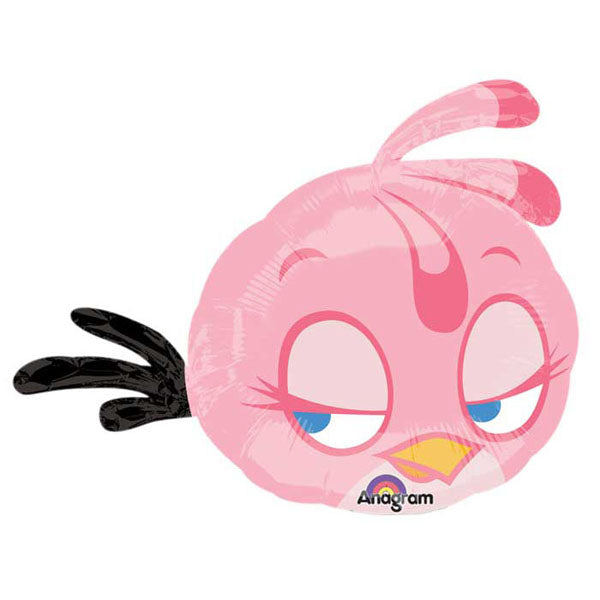 Shape Angry Birds Pink Bird 68cm x 53cm Foil Balloon  (Self sealing balloon, Requires helium inflation) - Each