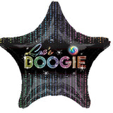 45cm 70's Disco Fever Let's Boogie Foil Balloon (Self sealing balloon, Requiries Helium Inflation) - Each